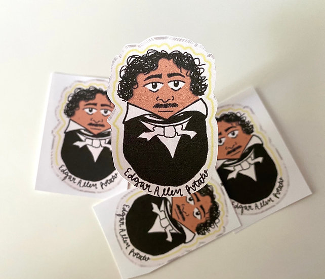 Edgar Allan Potato Sticker