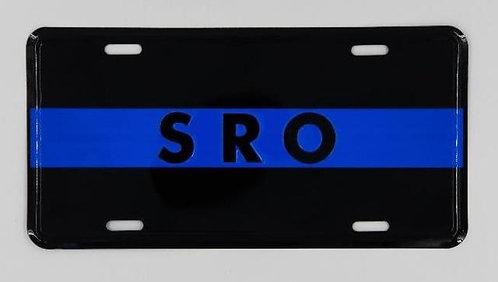 SRO Blue Line License plate