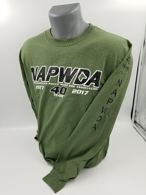 NAPWDA Long Sleeve T-shirts 40th Anniversary logo