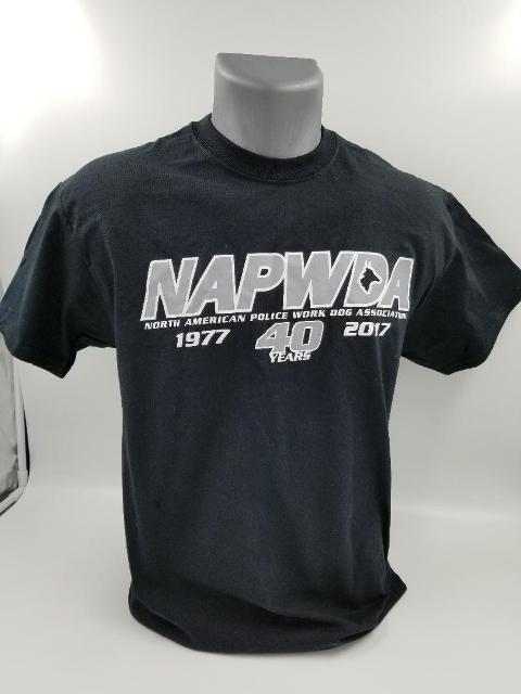 NAPWDA 40th Anniversary T-shirt - long logo