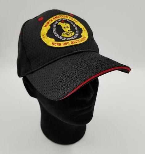 NAPWDA ball cap black with oval logo