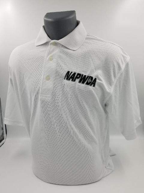 Feather Weight Polo Shirts. NAPWDA Embroidered Logo.