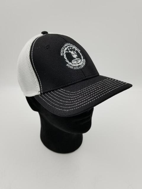 NAPWDA Ball Cap Black & White with round logo
