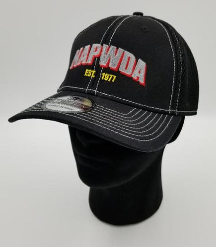 NAPWDA Ball Cap Black with silver and red logo
