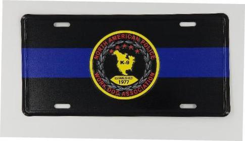 NAPWDA Blue Line License Plate