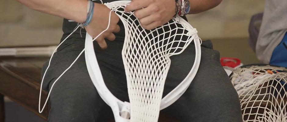 Adam Ghitelman Goalie Stick Stringing