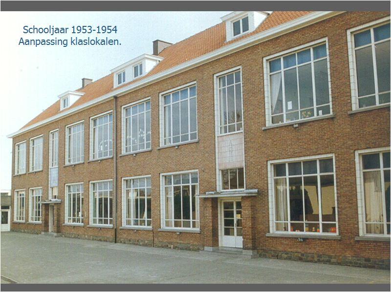 Aanpassingen klaslokalen '53 - '54
