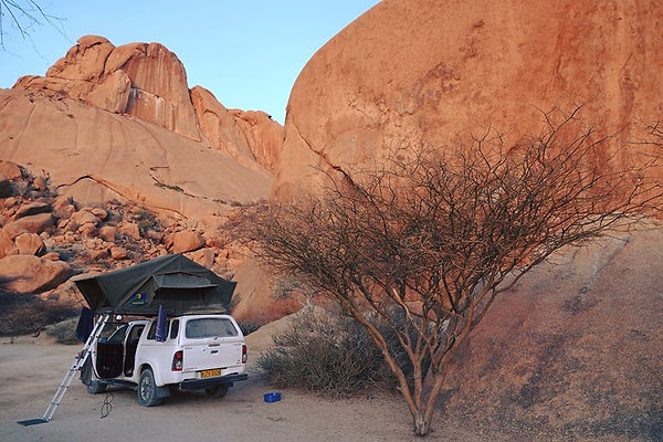 Odyssey Car at Spitzkopje in Namibia