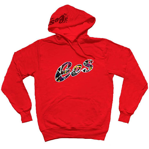 EES Hand-Made Afro Hoodie (red)
