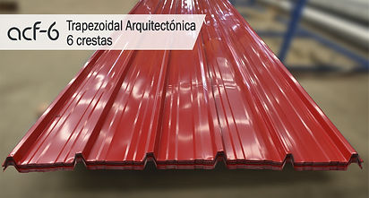 Trapezoidal/Teja Trapezoidal Arquitectonica/6 crestas/ Acerfo