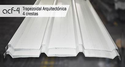 Cubierta Trapezoidal/Teja Trapezoidal Arquitectonica/4 crestas/Acerfo