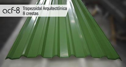 Trapezoidal/Teja Trapezoidal Arquitectonica/8 crestas/ Acerfo