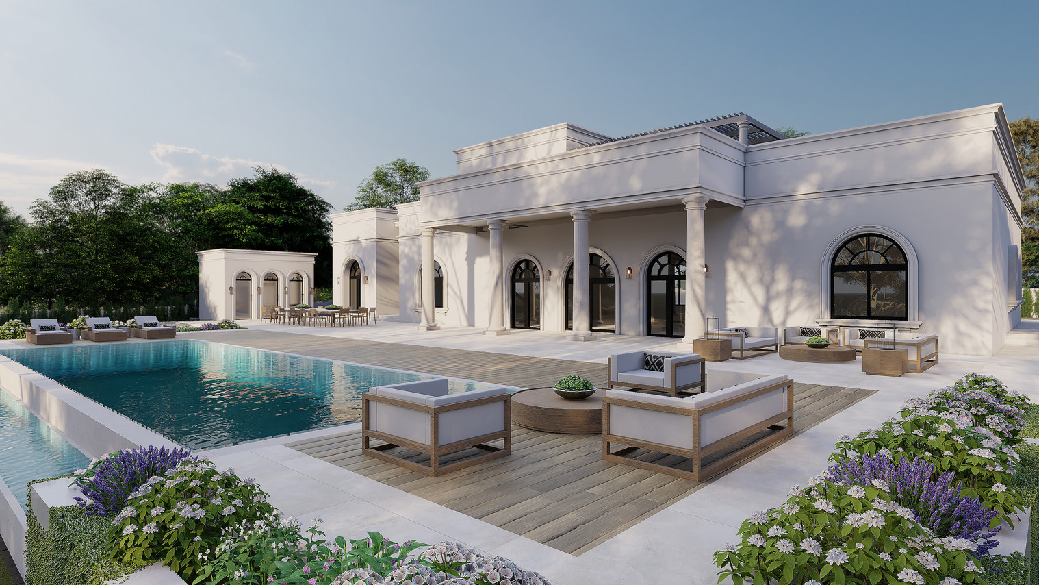Khoury Residence - Outdoor Deck Option A