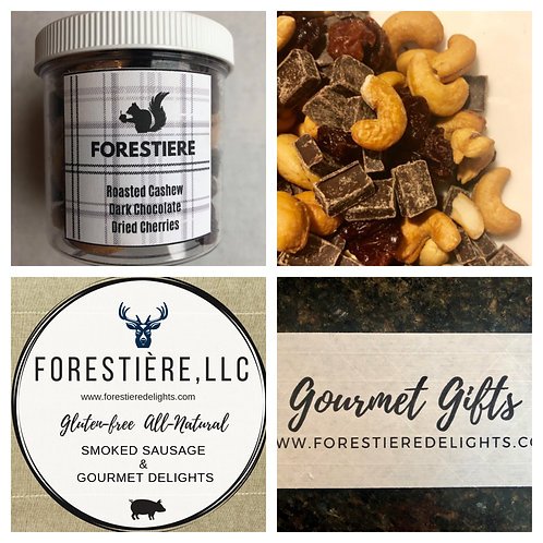 Gourmet Nuts-Dark Chocolate, Cashew, Dried Crannberries