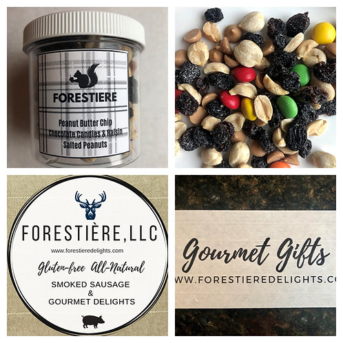 Gourmet Nuts-Peanut Butter Chip, Chocolate Candies and Raisin, Salted Peanuts