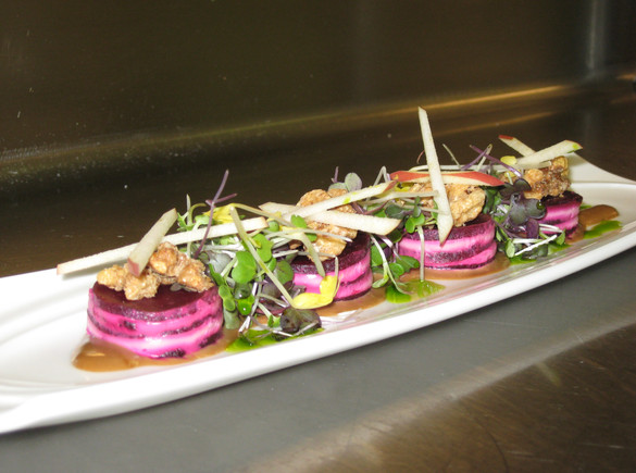 Roasted Beet Salad, Goat Cheese