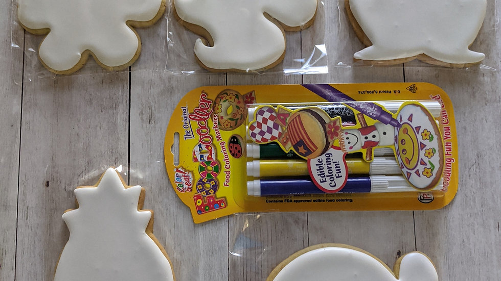 Assorted Coloring Cookies