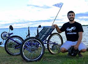 Márcio Silveira da Costa, triciclo reclinado, art trike, porto alegre, brasil, primeiro, bicicleta diferente, bike, expobici, confortável, Porto Alegre, Brasil,
