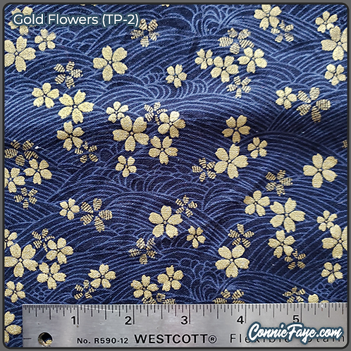 Gold Flowers (TP-2) Olson Cloth Face Mask