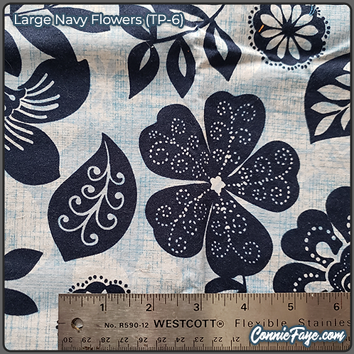 Large Navy Flowers (TP-6) Olson Cloth Face Mask
