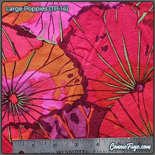 Large Poppies (TP-14) Olson Cloth Face Mask