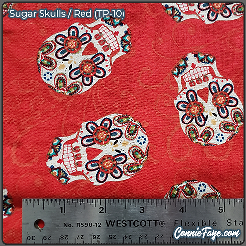 Sugar Skulls Red (TP-10) Olson Cloth Face Mask