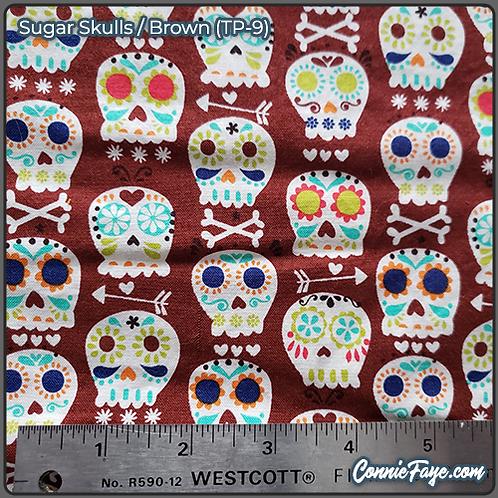 Sugar Skulls Brown (TP-9) Olson Cloth Face Mask
