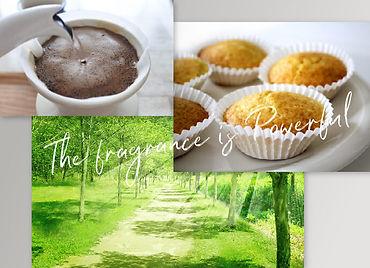 香りが影響を与えるイメージ(珈琲をドリップした時、マドレーヌを食べた時、森の中を歩いた時)