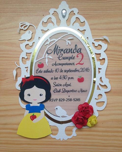 Invitacion blanca nieves en el espejo kdcrd for Espejo blancanieves