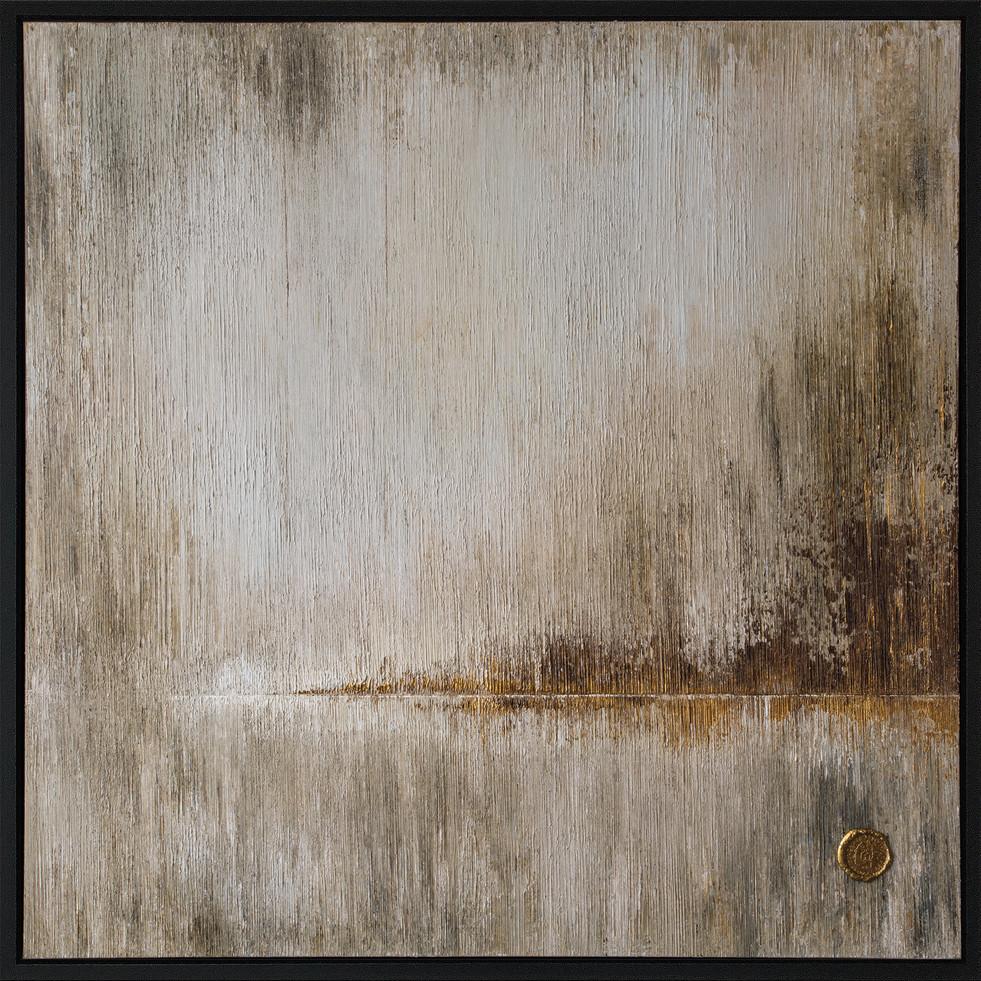 Flicker Diptych - left painting 100x100cm