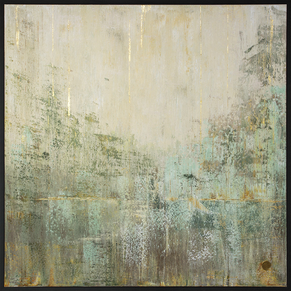 A Forest 24K Gold 170x170cm // Sold