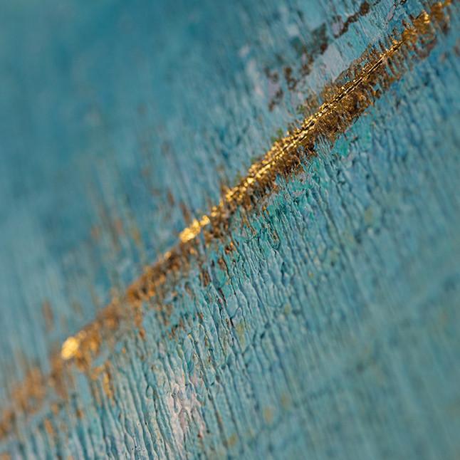 Closer 200x100cm Acrylics & 24K Gold