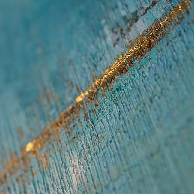 Closer 200x100cm Acrylics & 24K Gold // sold