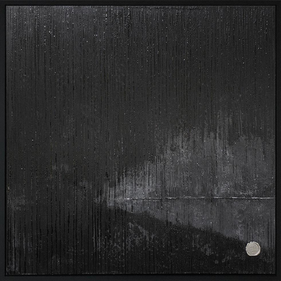 Negative Moon // 100x100cm