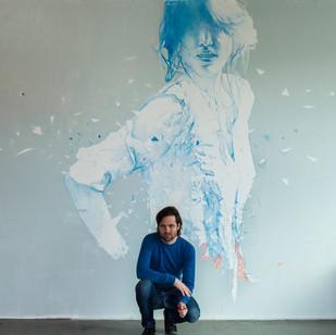 Hypersurface II, Daan Noppen 3x8m Mural.