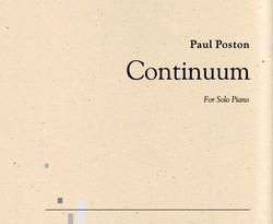 Continuum for Solo Piano