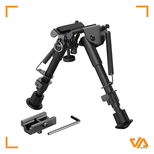 Folding Spring Swivel/Picatinny (RIS) Mounted Bipod 6-9""