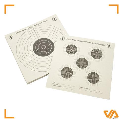 Bisley 17cm 1+5 grade 1  targets pack of 100