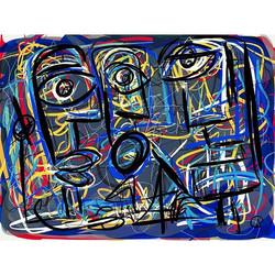 Digital Art_#digitalart _#ipadart_#blueandyellow
