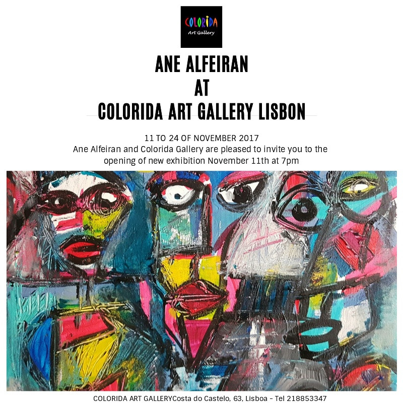 Ane Alfeiran's first exhibition in Lisbon Portugal.