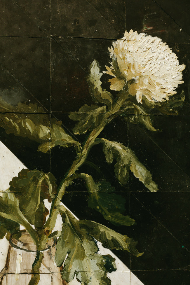 """Still life of a White Chrysanthemum"""