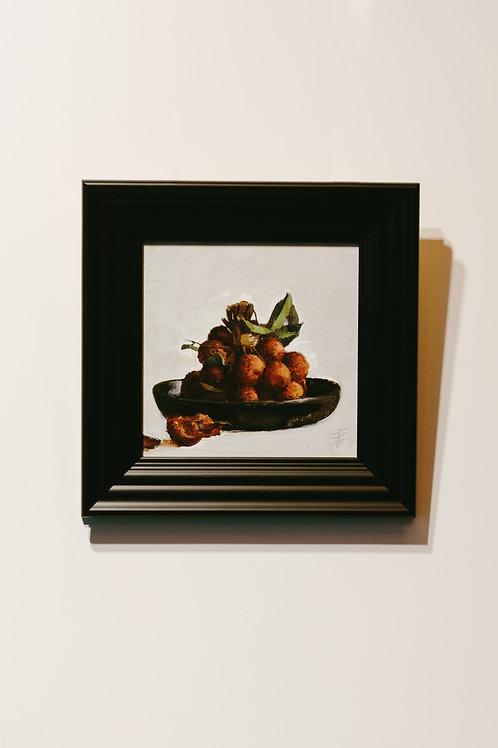 Still Life of tied lychees