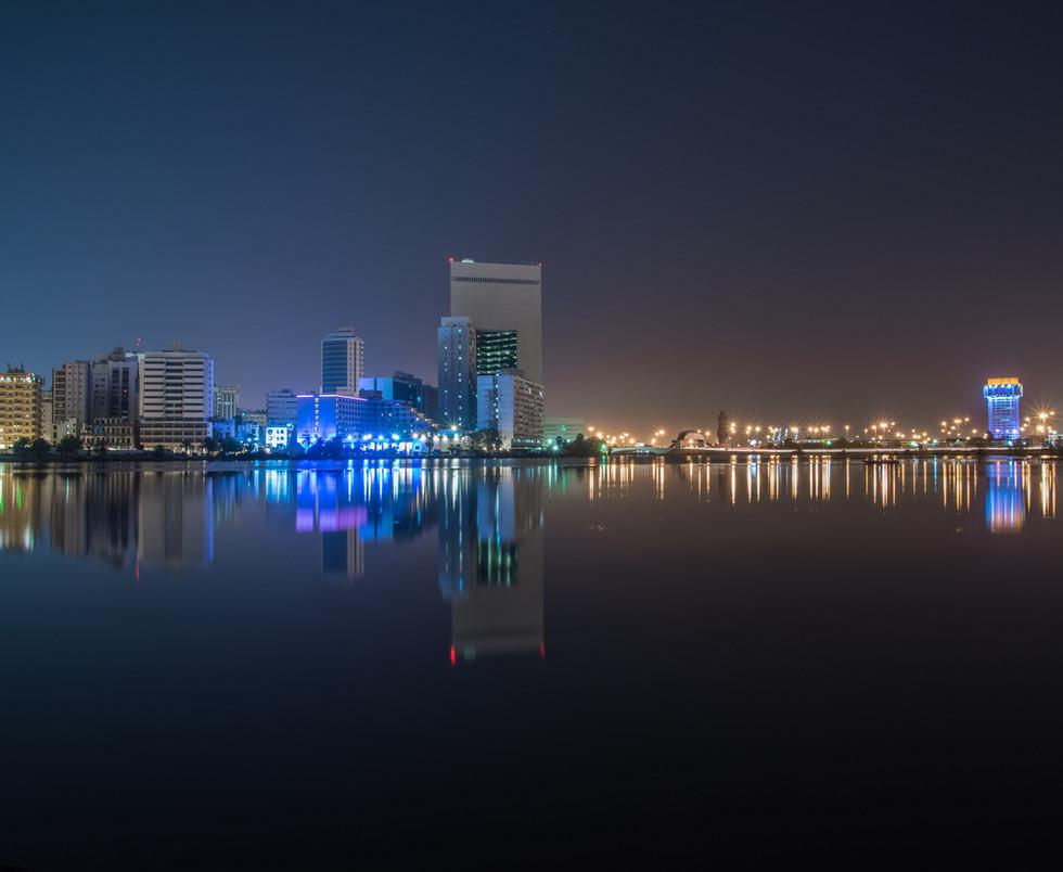 Jeddah City Center - Al Balad Night View, Jeddah Saudi Arabia.jpg