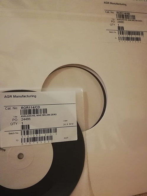"NINE BELOW ZERO Avalanche LP + 7"" TEST PRESSINGS"