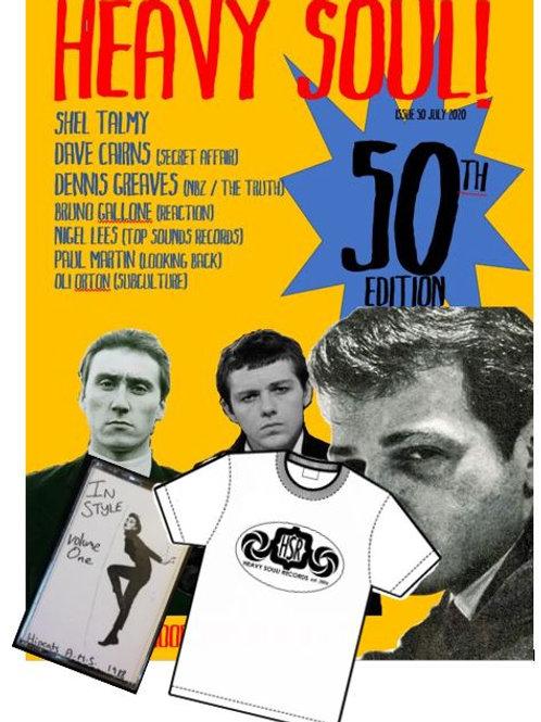 HEAVY SOUL MODZINE Issue 50 with CD + t-shirt