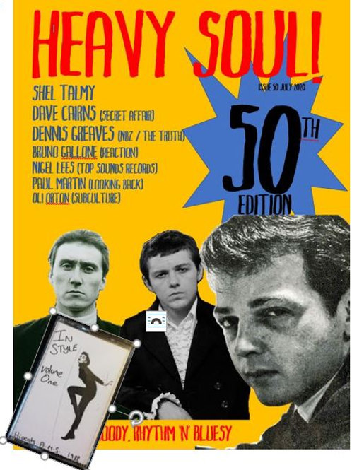 HEAVY SOUL MODZINE Issue 50 with CD + cassette
