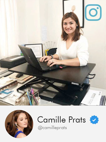 Camille Prats with her Stance Standing Desk