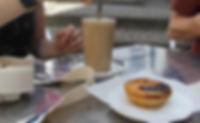 food, coffee, pastel de nata