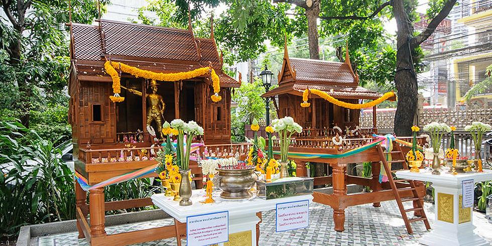9 The Thai Style Wooden Spirit Houses.pn