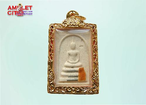 Phra Somdej 3 Scroll Silver Takruts @ LP Koon